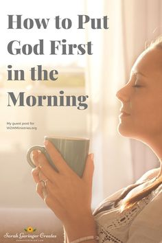 The idea of Jesus sitting at the kitchen table in the morning, waiting for me before I began my day, inspired me.How to Put God First in the Morning Christian Post, Christian Living, Christian Faith, Christian Quotes, Women Of Faith, Faith In God, Bible Study Tips, Spiritual Disciplines, Proverbs 31 Woman
