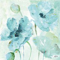 Watercolor Garden Blue II Tre Sorelle Studios