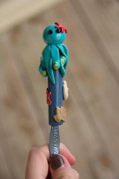 Polymer Clay Octopus Boye Crochet Hook by LivAndLucys on Etsy, $15.00