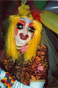 clown club kids wild fashion bright crazy