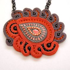 naszyjnik wisior sutasz soutache pendant necklace 8