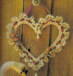 free crochet Victorian Heart Wreath pattern... From Mom's Love of Crochet