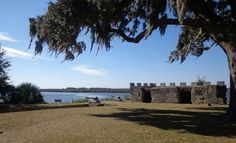 Fort Frederica National Monument on St. Simons Island, GA.    Fort Frederica was established in 1736 by James Oglethorpe to protect the southern boundary of his new colony of Georgia from the Spanish in Florida.