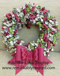 CURLY PAPER WREATHS - Video Tutorial & Kitsall made from Designer Series Paper from Stampin' Up! and the new Gift Bow die