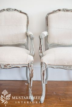 Reupholstering French Chairs – How To Tutorials- Miss Mustard Seed - New ideas Chair Makeover, Furniture Makeover, Diy Furniture, Furniture Design, Repurposed Furniture, Modular Furniture, Furniture Refinishing, Steel Furniture, Refurbished Furniture