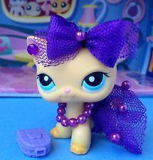 Cute Purple all over dress, for your lps cat. Lps Diy Accessories, Lps Clothes, Lps Sets, Custom Lps, Airplane Crafts, Lps Littlest Pet Shop, Fancy Cats, Little Pet Shop, Dragon Crafts