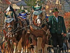 Georgiritt on Easter Monday in Traunstein