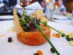 Salmon tartar.