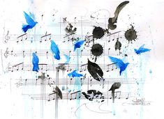 """First draft of the """"Birds of a Feather"""" score"""