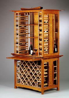 Vineyard Wine Rack Cabinet