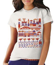 T-shirt città di Cagliari DamianiDesign by Filatex stampa digitale.
