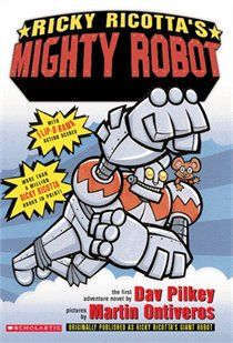 With the success of the Underpants series Pilkey's other books have been shoved out of the spotlight. A fabulous series that Dave Pilkey wrote following Captain Underpants is Ricky Ricotta's Mighty Robot.