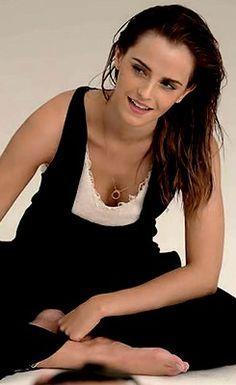 """"""" Emma Watson behind the scene of her Elle Uk photoshoot. """""""