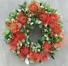 Christmas Leucospernum Wreath copy resize