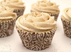 Cupcakes de arroz con leche y buttercream de canela con Thermomix   https://lomejordelaweb.es/