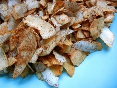 "CINNAMON COCONUT CHIPS (GAPS)....  2 cups dried unsweetened chips (also known as ""flakes"")  2 tsp cinnamon  pinch of Stevia Powder or 1-2 TBS Xylitol (not from corn)  (optional – ""sweet and salty"" –  1/4 tsp  Celtic Sea Salt)"