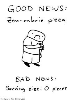 Comic by Toothpaste For Dinner: zero calorie pizza