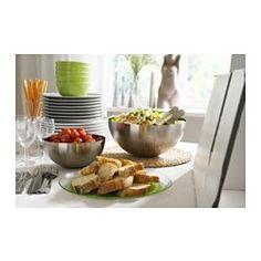 """BLANDA BLANK Serving bowl, stainless steel - stainless steel - 11 """" - IKEA"""
