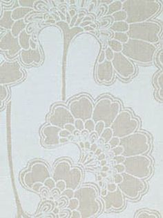 Japanese Floral from Florence Broadhurst via Signature Prints #fabric #cotton #neutral