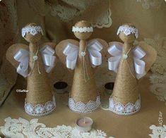 Best 11 Easy and cheap Christmas crafts for recycling Rustic Christmas, Christmas Art, Christmas Projects, Holiday Crafts, Christmas Christmas, Kids Crafts, Christmas Angel Ornaments, Deco Originale, Angel Crafts