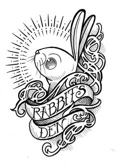 love this! rabbit tattoo