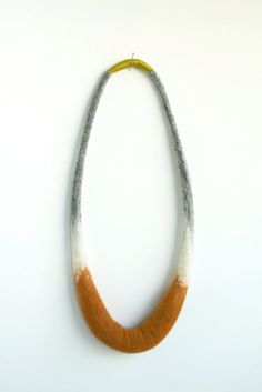 Crescent Necklace  Hand Felted Merino Wool  Burnt by papaververt, $92.00