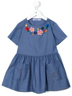 Familiar floral embroidered dress
