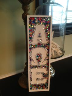 Greek Letters | Alpha omega Epsilon | Cool idea for a craft that includes letters! #sororitycrafts