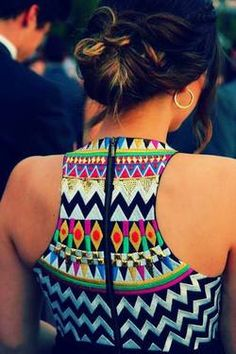 Zig zag patterns on dress