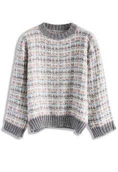 Cozy Grid Sweater - New Arrivals - Retro, Indie and Unique Fashion