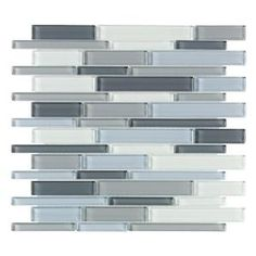 For kitchen walls above cabinets  Stratosphere Blue Pencil 12 in. x 12 in. Glass Wall & Floor Tile-99148 at The Home Depot