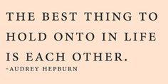 Audrey Hepburn quote :)