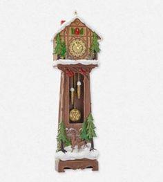 2014 Santa's Grandfather Clock Hallmark Keepsake Ornament - Hooked on Hallmark Ornaments