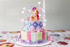 Hayden's My Little Pony Birthday Cake. Made by Casey Bordelon at Pretty Sweet Cakes!