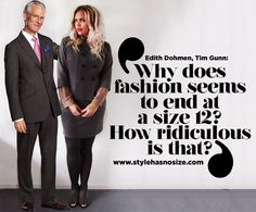 Tim Gunn and I share the same message! - Style has No size