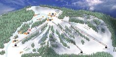 Downhill Trail map-- Ski @ Treetops @Elizabetheverett.  AHHH so excited for mid winter break!!!!!!!!:):):):):)