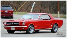Red 65 Mustang by on DeviantArt 68 Ford Mustang, Red Mustang, Mustang Cars, Car Man Cave, Classic Mustang, Ford Bronco, Jeep Wrangler, Hot Wheels, Muscle Cars