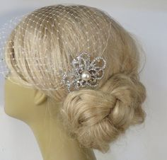 Birdcage Veil and a Bridal Hair Comb 2 Itemsbridal by IreneJewelry
