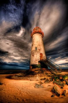 maya47000: Talacre lighthouse by Adrian Evans
