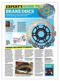EBC Brakes' Experts answer any questions in Motorcycle News Magazine Our resident experts Jon Wright and Adam Freeman give you all the technical information you need about EBC Brakes' pads and discs. Read more . Brakes Pads, Motorcycle News, Any Questions, Articles, Magazine, Magazines, Warehouse, Newspaper