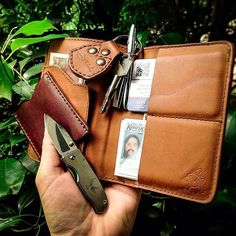 Photo tip: For best results, the frame should be at least 80% leather. | Saddleback Leather Co. | Passport Wallet | 100 Year Warranty | $70
