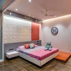 Image may contain: bedroom and indoor Bedroom Door Design, Bedroom False Ceiling Design, Bedroom Furniture Design, Modern Bedroom Design, Bed Furniture, Interior Design Living Room, Bedroom Decor, Bedroom Designs, Blue Bedroom