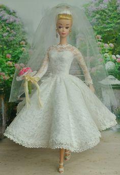 Barbie Bridal, Barbie Wedding Dress, Barbie Gowns, Doll Dresses, Barbie Dress, Barbie Clothes, Bride Dolls, Laurel Burch, Barbie World