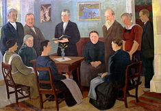 Hartaushetki Alaviitalassa (Prayer Meeting at Alaviitala), 1924 by Eero Nelimarkka on Curiator, the world's biggest collaborative art collection. Prayer Meeting, Collaborative Art, Oil On Canvas, Prayers, Artwork, Painting, Beautiful, Artists, Museums
