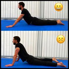 Esta retroflexão deitada (de nome bhujangásana) tornou-se tão conhecida que é muito usada fora da prática do Yôga. Contudo, a esmagadora… Yoga, Sports, Getting To Know, Tips, Hs Sports, Sport