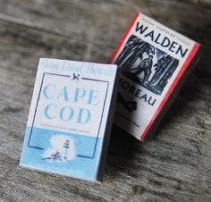 Henry David Thoreau's miniature book pins set от Bunnyhell на Etsy