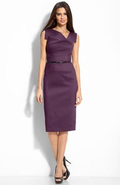 Power dress for work?  Check.    Black Halo 'Jackie' Belted Gabardine Sheath Dress available at #Nordstrom