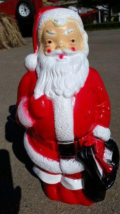 """Vintage 1968 Empire Plastic Blow Mold Light-Up Santa 13"""" Tall by DimeStoreDarlings on Etsy"""