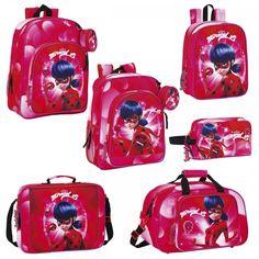 Miraculous Ladybug Cat Noir Backpack Rucksack Travel Gym School Lunch Bag DOTS