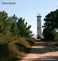 Faro de Punta Subrido. Cabo Home. Cangas